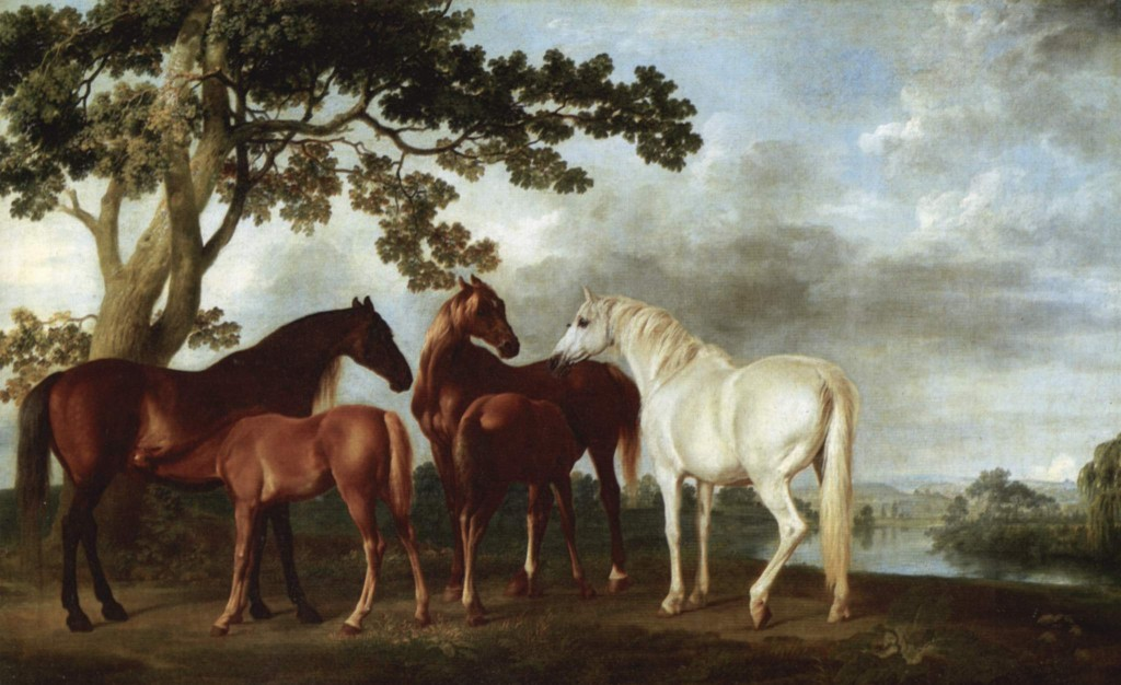 Fig. 4. George Stubbs, Mares and Foals, oil on canvas, c.1763–65. Tate Britain, London. Image: Wikimedia Commons.