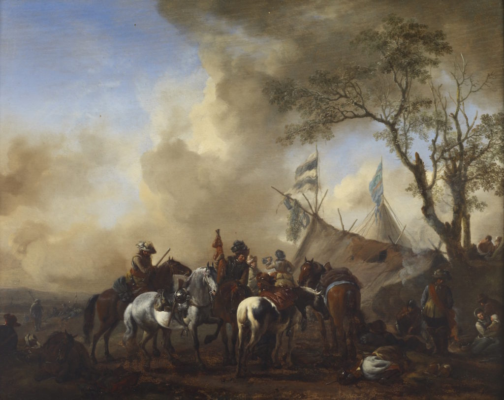 Fig. 5. Philips Wouwerman, The Cavalry Camp, 1638–68. Oil on oak panel, 42.5 × 52.7 cm. The Frick Collection; Henry Clay Frick Bequest (1901.1.136). Photo: Michael Bodycomb.