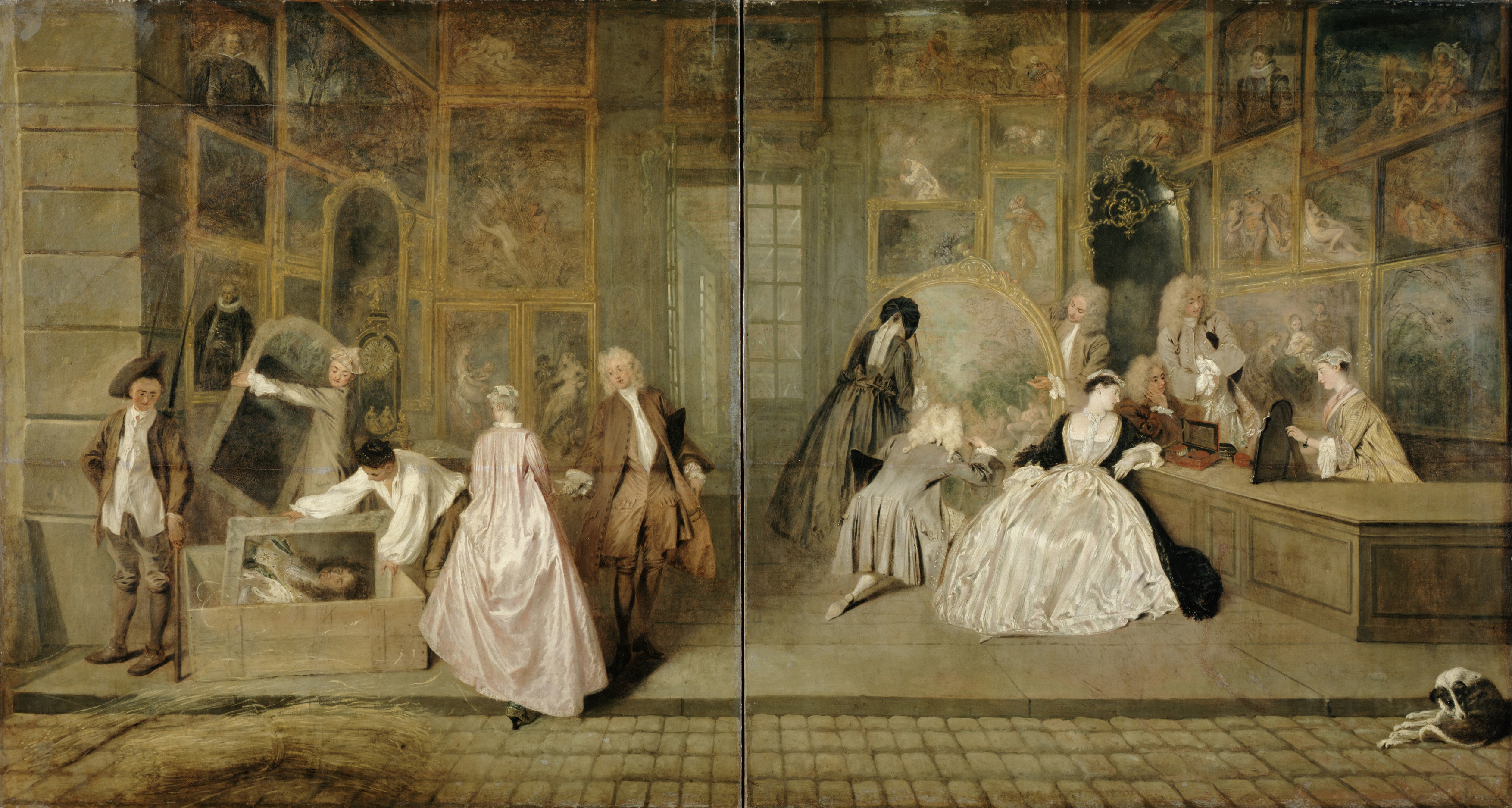 Virtual Explorations of an 18th-Century Art Market Space ...