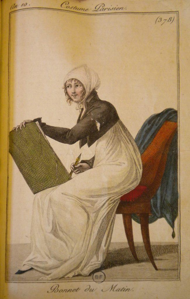 Fig. 10. Costume Parisien, Plate no. 378, Journal des dames et des modes, Year X. Collection: Bibliothèque Forney, Paris. Photograph by Susan Wager.