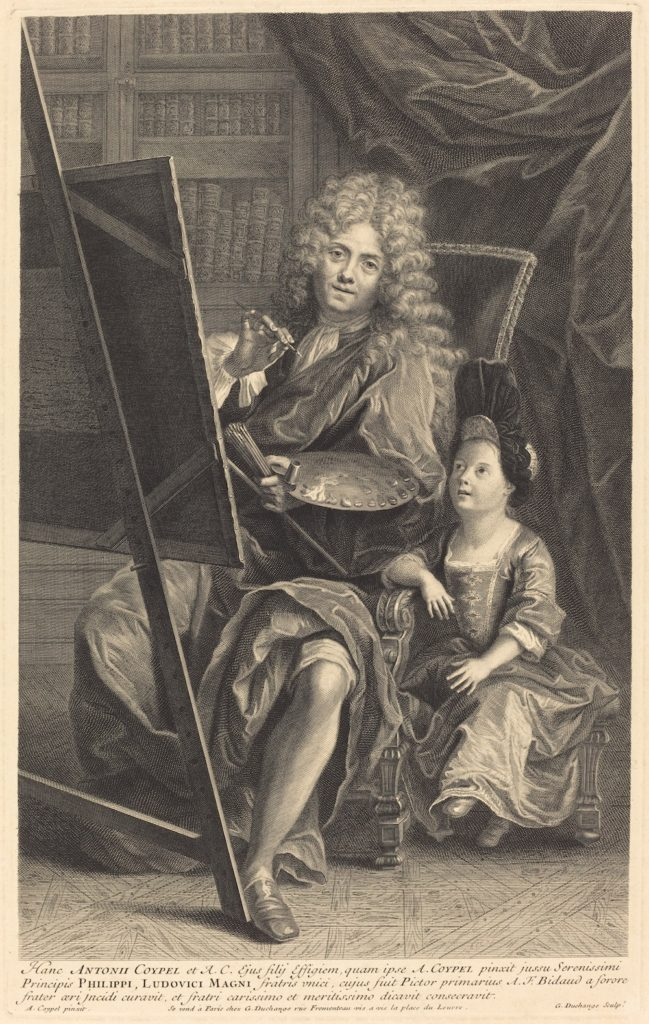 Fig. 1. Gaspard Duchange after Antoine Coypel, Antoine Coypel and his Son, ca. 1700. Engraving and etching on laid paper, 48 x 32 cm. The National Gallery of Art, Washington, D.C. © Image courtesy of The National Gallery of Art, Gift of John O'Brien, 1991.23.3, www.nga.gov.
