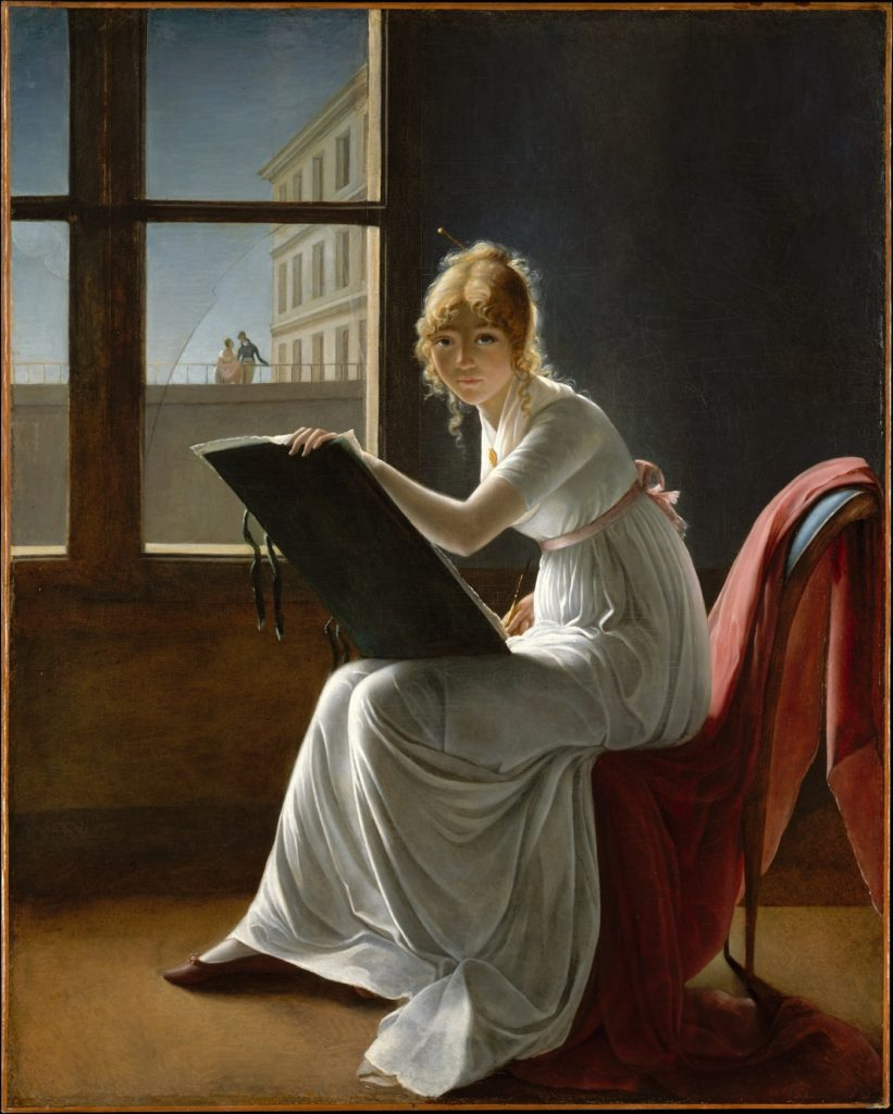 Fig. 1. Marie Denise Villers, Charlotte du Val d'Ognes, 1801. Oil on canvas, 161.3 x 128.6cm. Metropolitan Museum of Art, New York. Mr and Mrs Isaac D. Fletcher Collection, Bequest of Isaac D. Fletcher, 1917. 17.120.204. Image courtesy of Metropolitan Museum of Art, New York, www.metmuseum.org.