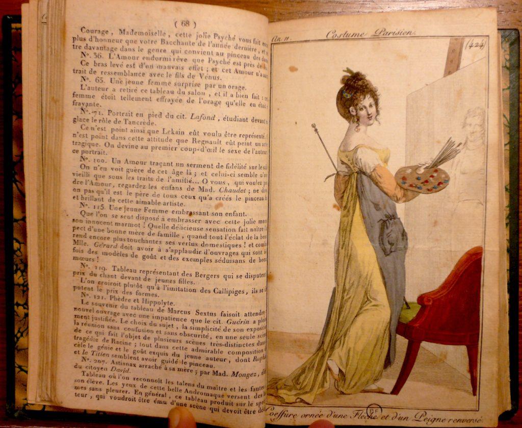 Fig. 2. Costume Parisien, Plate no. 348, Journal des dames et des modes, Year XI. Collection: Bibliothèque Forney, Paris. Photograph by the author.