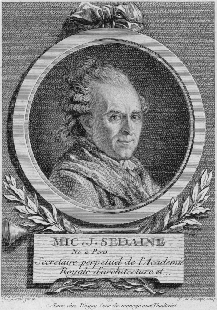 Fig. 2. Pierre-Charles Levesque (after Jacques-Louis David), Michel-Jean Sedaine, 1772. Engraving, 21.4 x 18.9 cm. École nationale supérieure des Beaux-Arts, Paris. Image source: Wikimedia Commons.