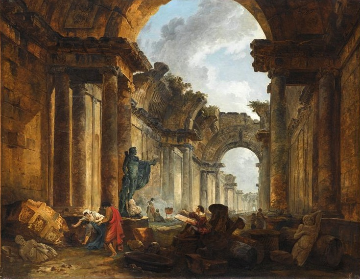 Fig. 3. Hubert Robert, Imaginary View of the Grande Galerie du Louvre in Ruins, 1796. Oil on canvas, 115 x 145 cm. Musée du Louvre, Paris. Photo © RMN-Grand Palais/Jean-Gilles Berizzi. Image source: RmnGP www.images-art.fr.