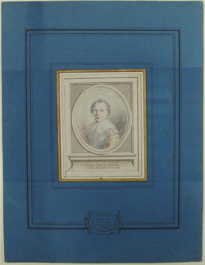 Fig. 4. Charles Coypel, Portrait of Cornelis Galle, Jr.. Black and red chalk, graphite, pen with brown ink, and brush with brown wash, 20.5 x 15.9 cm. The Metropolitan Museum of Art, New York © Image courtesy of The Metropolitan Museum of Art, Bequest of Bessie Potter Vonnoh, by exchange, 1996.117, www.metmuseum.org.