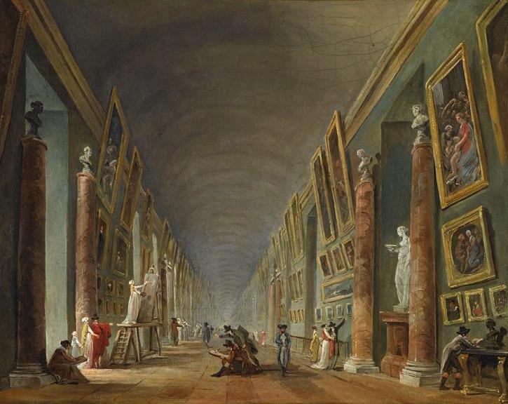Fig. 4. Hubert Robert, La Grande Galerie, entre 1801 et 1805. Oil on Canvas, 37 x 43 cm. Musée du Louvre, Paris. Photo © RMN-Grand Palais/Jean-Gilles Berizzi. Image source: RmnGP www.images-art.fr.