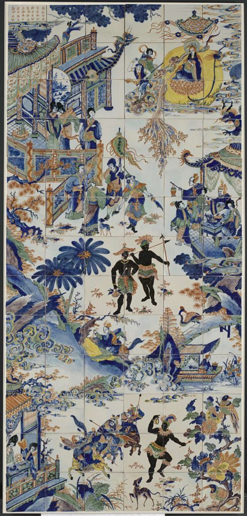 Fig. 3 Tile Panel with a Chinese Landscape, anonymous, 1690-1730, tin-glazed ceramic, Amsterdam, Rijksmuseum, inv. no. BK-NM-12400-443. Image source: Rijksmuseum, Amsterdam.
