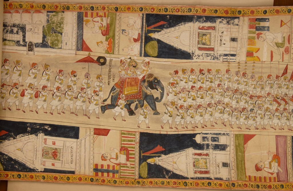 Fig. 14. Procession of Udaipur ruler Jawan Singh. Detail of Fig. 1.