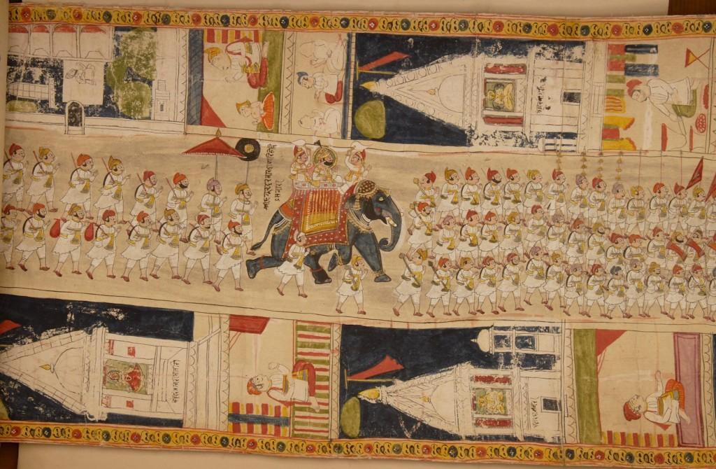 Fig. 14. Procession of Udaipur ruler Jawan Singh. Detail of Fig. 1.