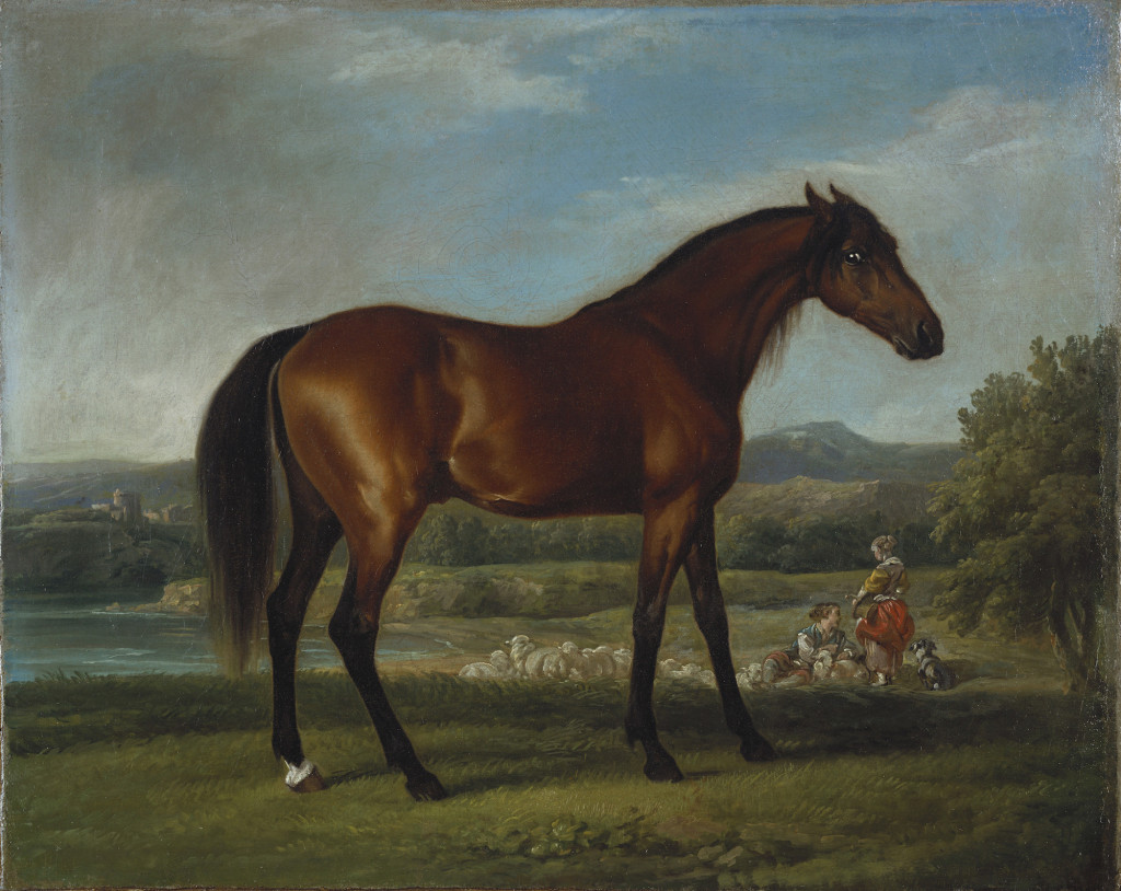 Fig. 1. George Stubbs with later additions by Claude-Joseph Vernet and François Boucher, Hollyhock, oil on canvas, c.1765–1770. The Royal Collections Trust. Image: Royal Collections Trust / © Her Majesty Queen Elizabeth II 2015