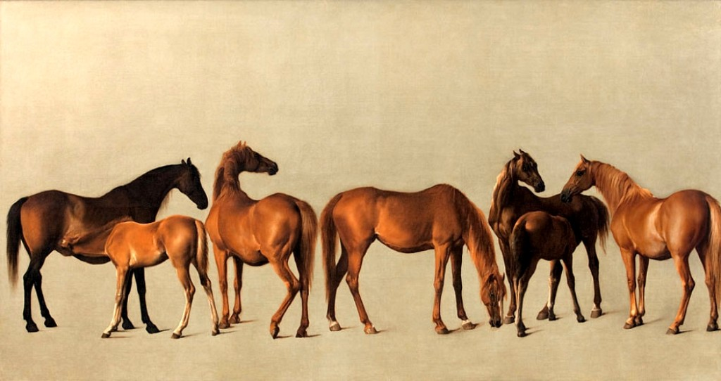 Fig. 2. George Stubbs, Mares and Foals, oil on canvas, 1762. Private collection. Image: Wikimedia Commons.