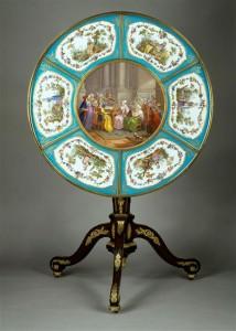 Fig. 21. Martin Carlin and Charles-Nicolas Dodin, Guéridon, Sèvres hard-paste porcelain, mahogany and gilt-metal, 1774. Musée du Louvre, Paris. Photo: © RMN-Louvre, Paris.