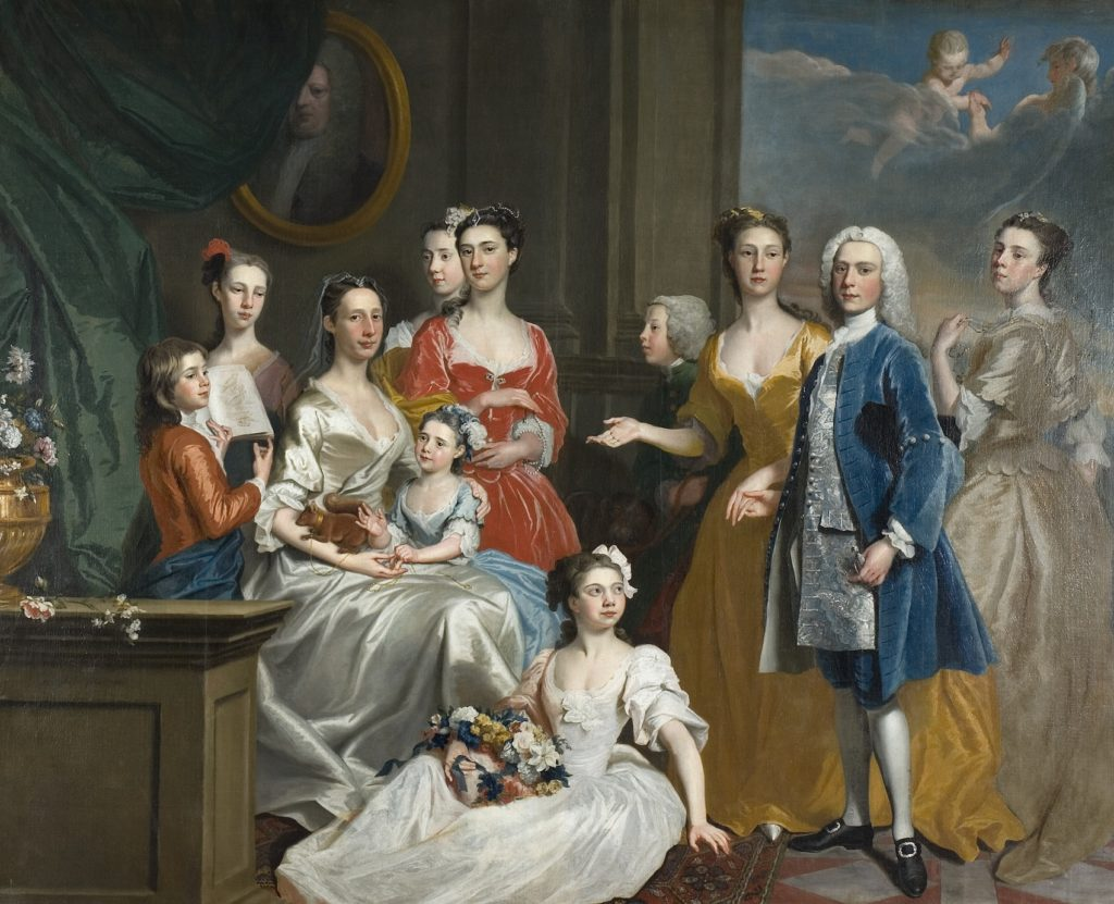 Fig.8. Joseph Highmore, The Family of Sir Eldred Lancelot Lee, 1736. Oil on canvas, 243.8 x 289.6 cm. Wolverhampton Art Gallery Image © Wolverhampton Arts and Culture.