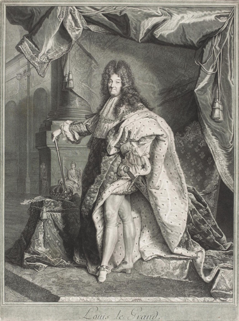Pierre Drevet after Hyacinthe Rigaud, 'Louis le Grand', 1712, engraving. © Victoria and Albert Museum, London.